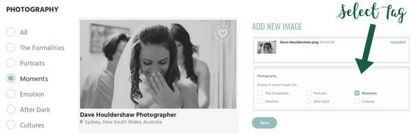 Photography Search Landing Page